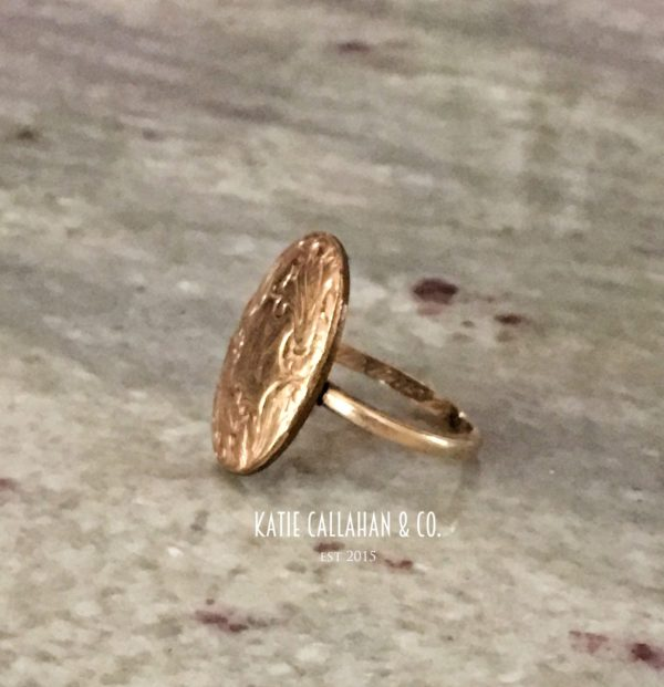 Victorian 14kt Yellow Gold Signet Ring Conversion (Antique)