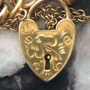 9kt Yellow Gold Heart Lock (Vintage)