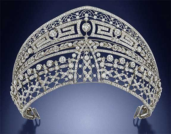Royal Spanish Tiaras: The Ansorena Meander Tiara