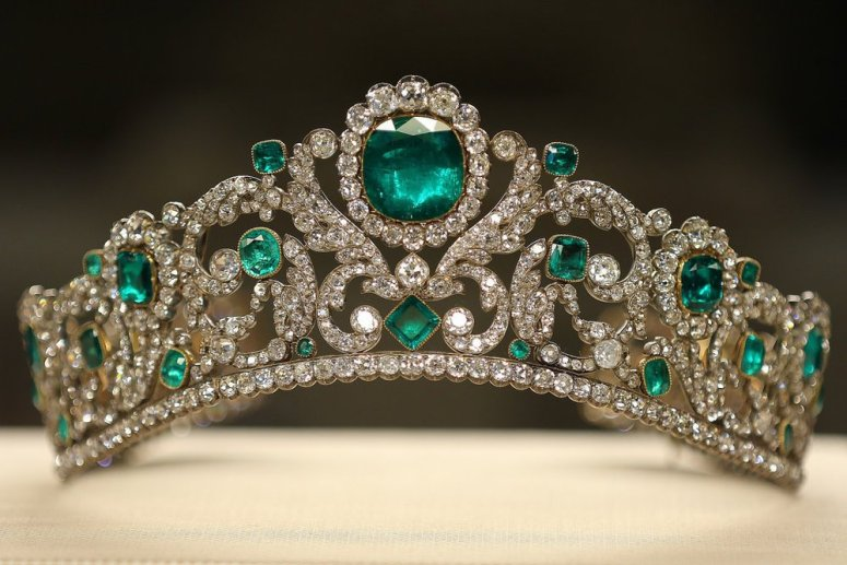 Royal French Tiaras: The Duchess d'Angouleme Emerald And Diamond Tiara
