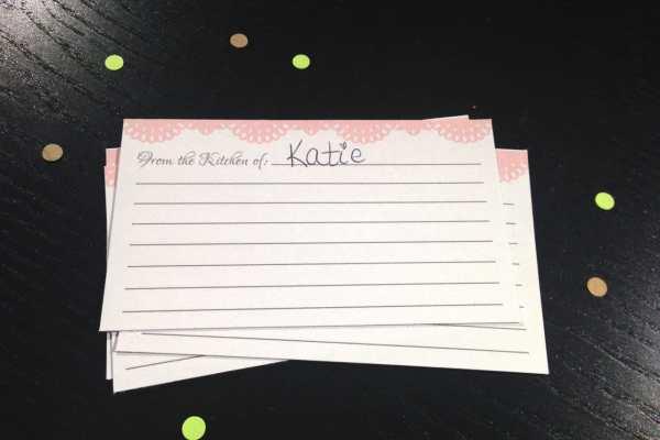 Freebie Friday: Shabby Chic Recipe Cards
