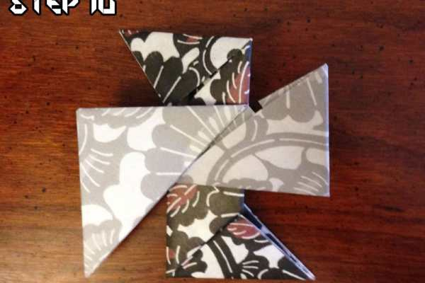 Origami with the Husband: Ninja Star on Katie Crafts; https://www.katiecrafts.com