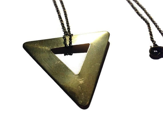 Large Triangle Necklace by Katie Crafts on Etsy