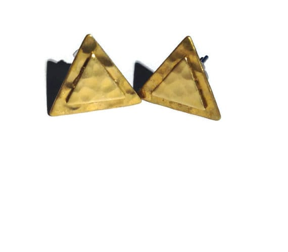 Triangle Earrings by Katie Crafts on Etsy