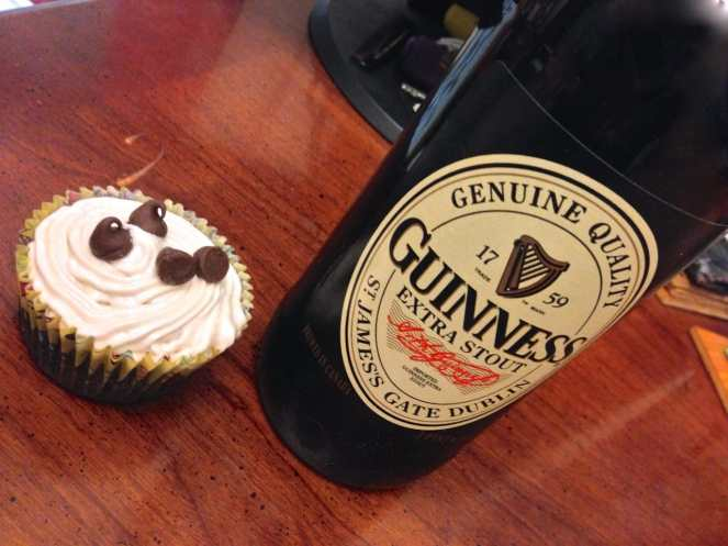 Irish Car Bomb Cupcake Recipe by Katie Crafts; http://www.katiecrafts.com
