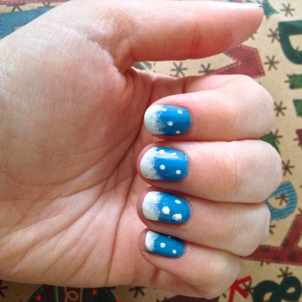 Eighth Day of Christmas: Winter Manicure on Katie Crafts; http://www.katiecrafts.com