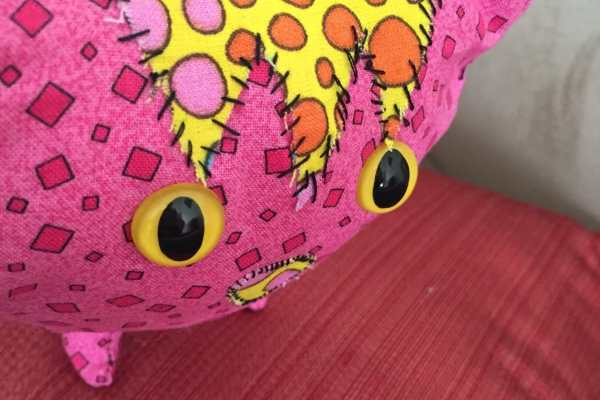 Scrappy Kitty Sewing Pattern on Katie Crafts; https://www.katiecrafts.com