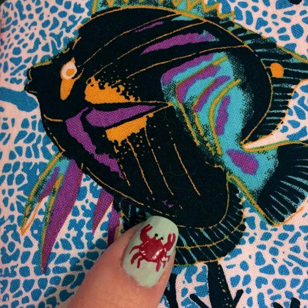 Crab Nail Art on Katie Crafts; http://www.katiecrafts.com