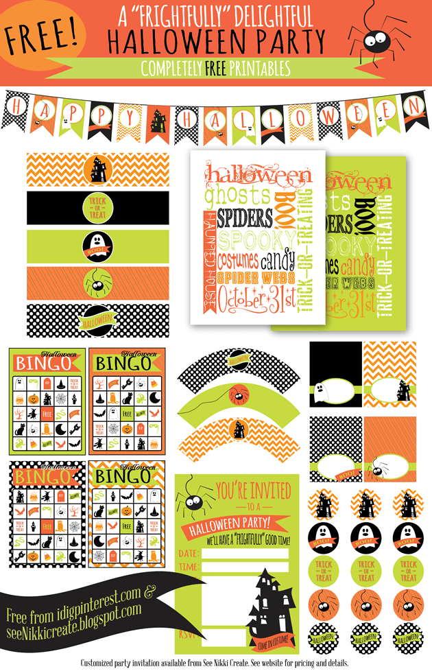 Free Halloween Printables on Katie Crafts; http://www.katiecrafts.com