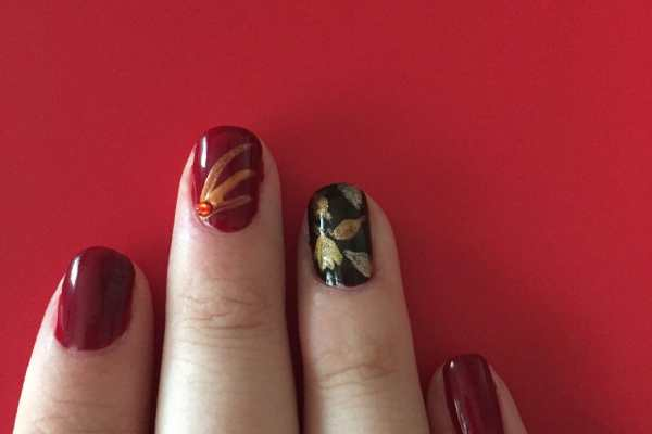 Fall Nail Art Design on Katie Crafts; https://www.katiecrafts.com