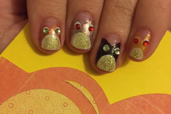 Autumn Owls Nail Art Tutorial by Katie Crafts; https://www.katiecrafts.com
