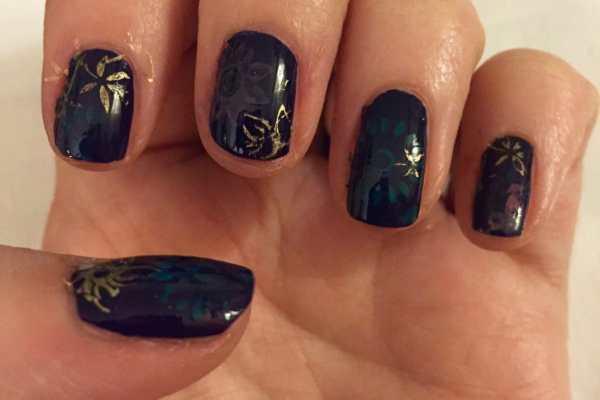 Nail Art Stamping on Katie Crafts; https://www.katiecrafts.com