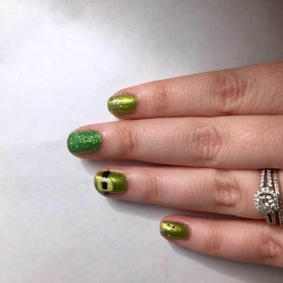St. Paddy's Day Nail Art 2016 by Katie Crafts; http://www.katiecrafts.com