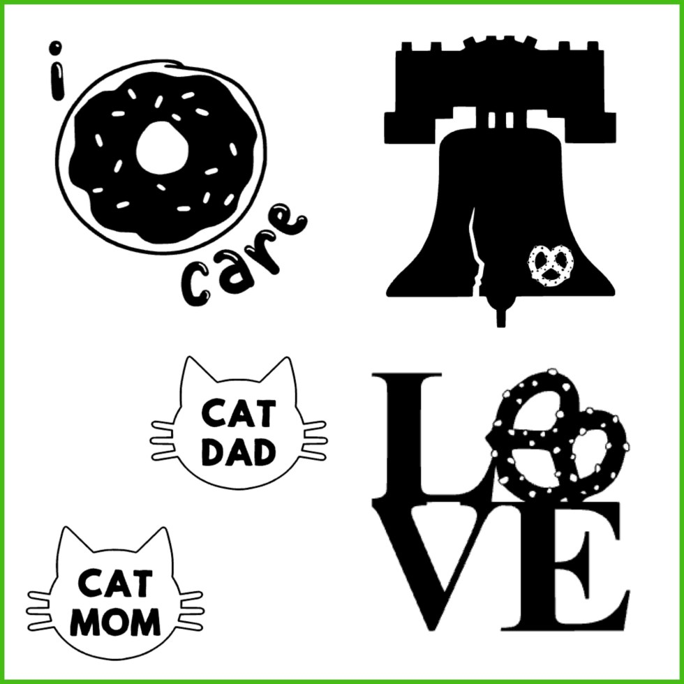 Sample of Decals For Sale on Katie Crafts; https://katiecrafts.com