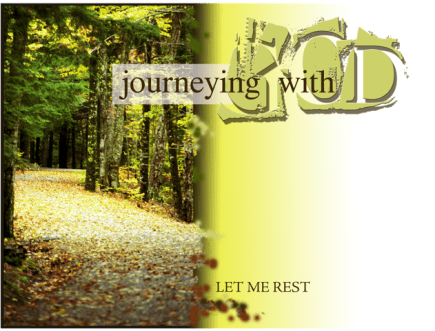 Image of the Journeying with God handbook found at Katie deVeau.com