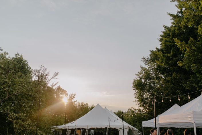 underhill vermont squabetty tented wedding with bistro lights