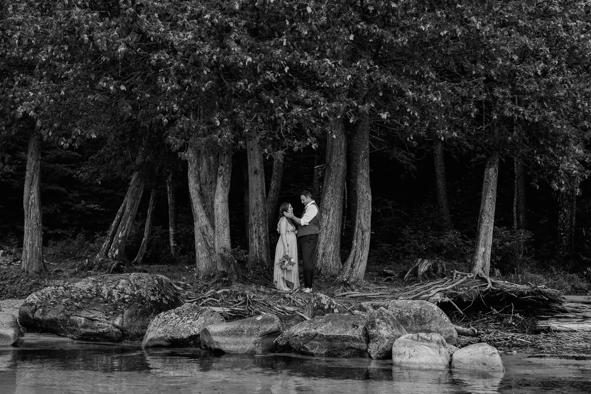 Intimate elopement Lake Willoughby Vermont - Katie Jean Photography