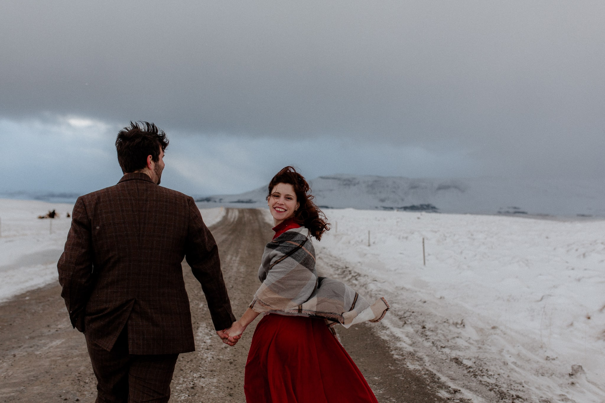 Moody Intimate Iceland Elopement - Katie Jean Photography