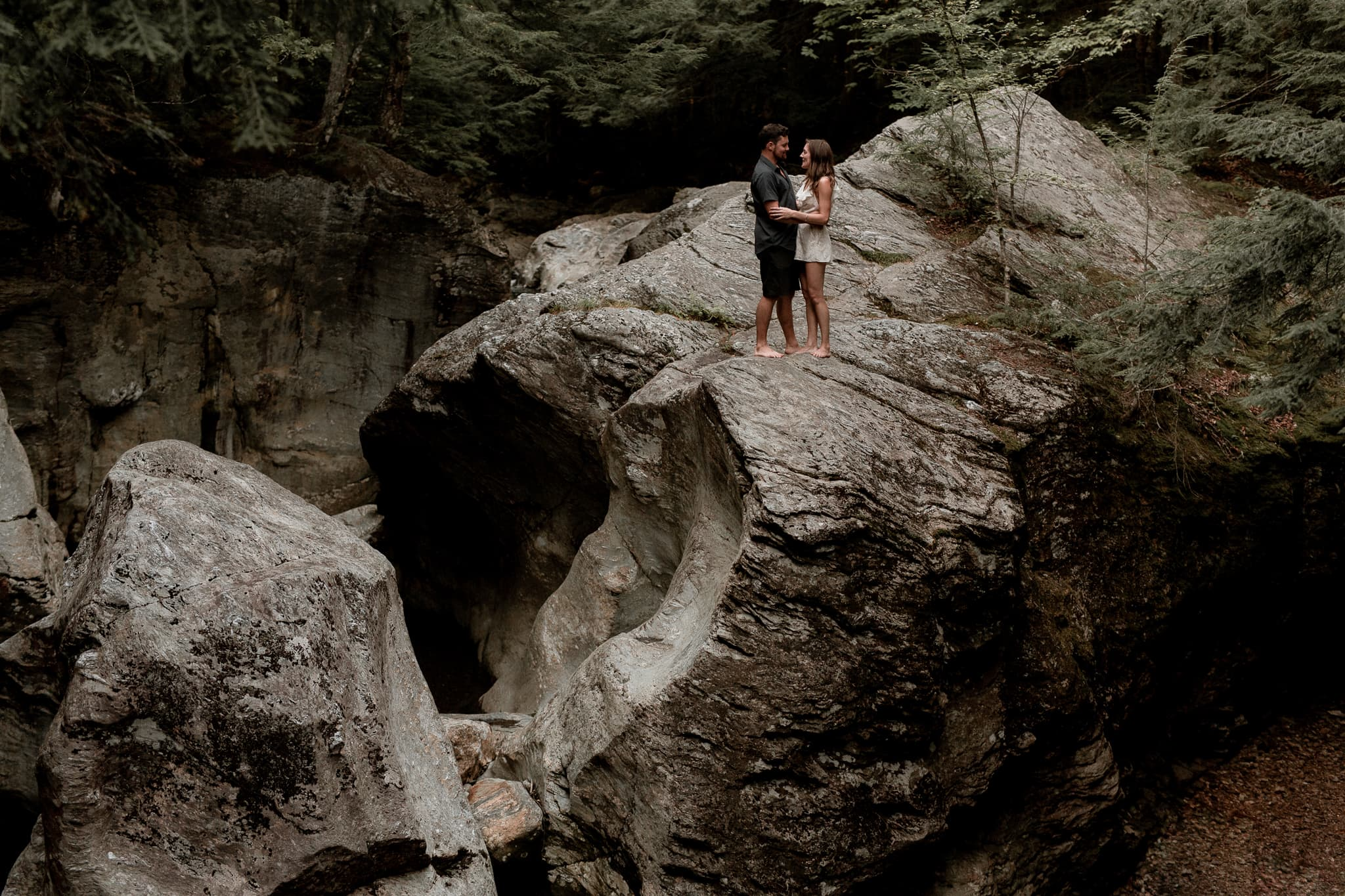 Smugglers Notch Engagement - Katie Jean Photography