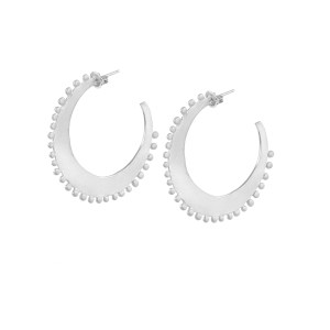 Alexia Large Hoops Satin A3