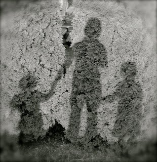 Mom and Kids in Shadow by Katie M Reid