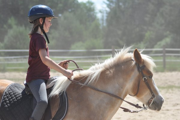 Girl on Hopewell Ranch Horse by Katie M Reid Photography