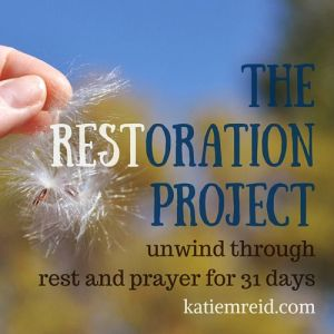 The Restoration Project 31 Day Series by Katie M Reid