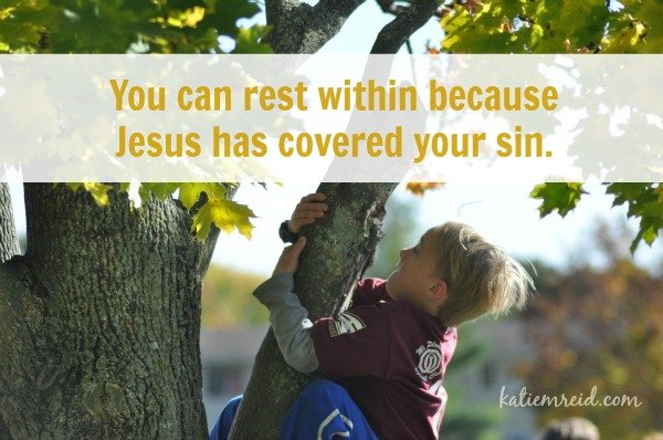 Rest with because Jesus covers sin