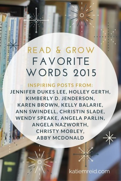 Favorite Words 2015 from Inspiring Bloggers