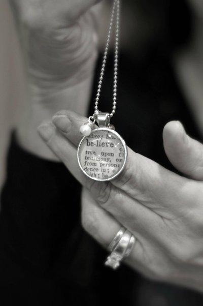 Believe necklace by Krafty Kash