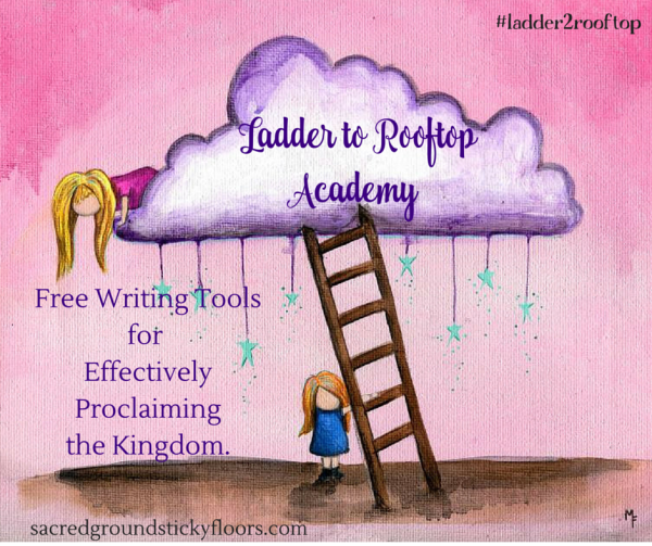 Ladder to Rooftop Academy hosted by Jami Amerine image art by Marcia Furman