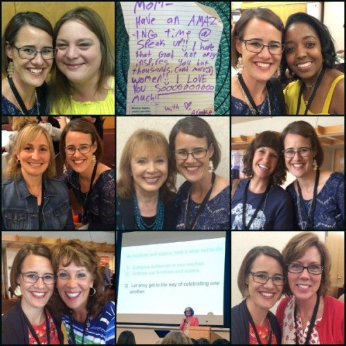 Katie M. Reid's pic collage of Carol Kent's Speak Up Conference 2017