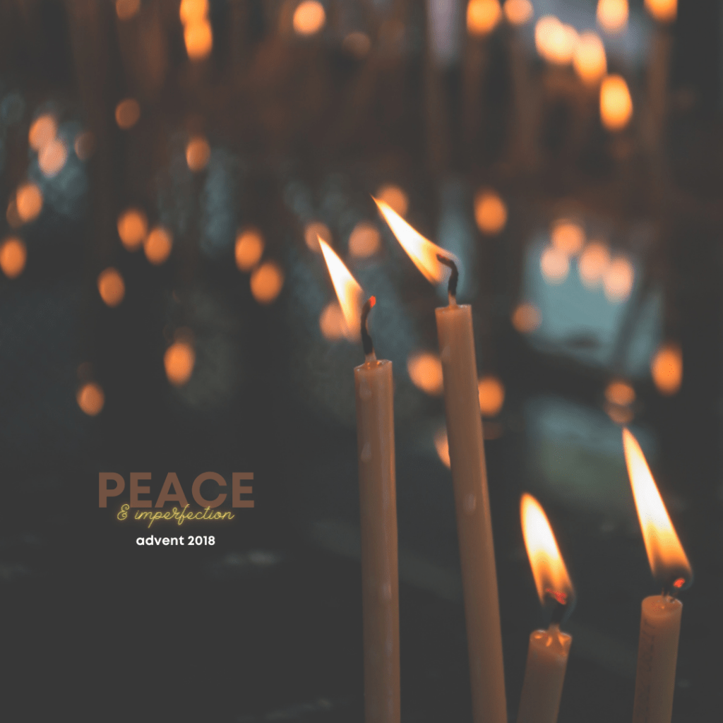 advent devotional 2018: peace & imperfection cover photo