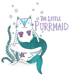 The Little Mermaid cat pun illustration