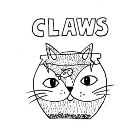 Jaws cat pun illustration