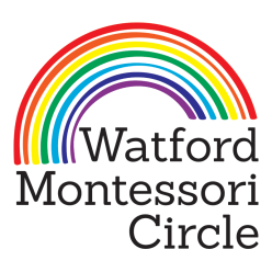 watford montessori circle logo design graphic design rainbow preschool