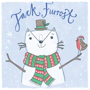 Jack Frost cat pun illustration