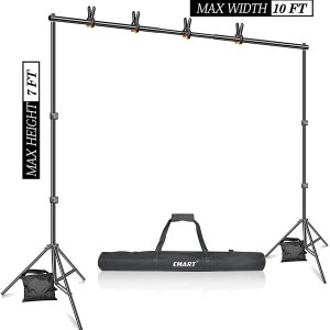 Black  Portable Backdrop