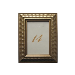 Frame Table Number – Gold 4×6
