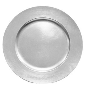 Acrylic Charger – Brushed Silver