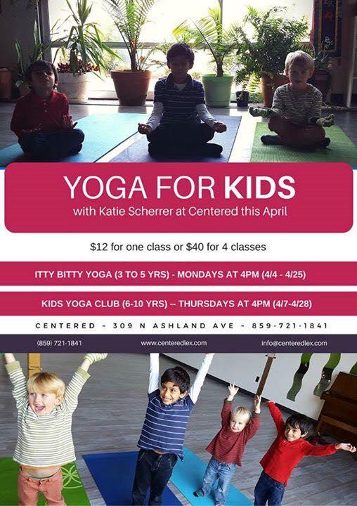 April Kids Yoga at Centered