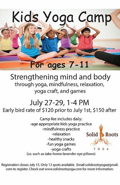 Kids Yoga Camp!