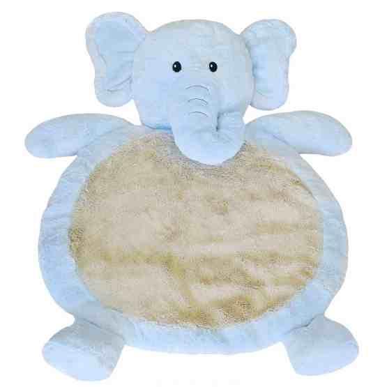 Mary Meyer Blue Elephant Floor Mat