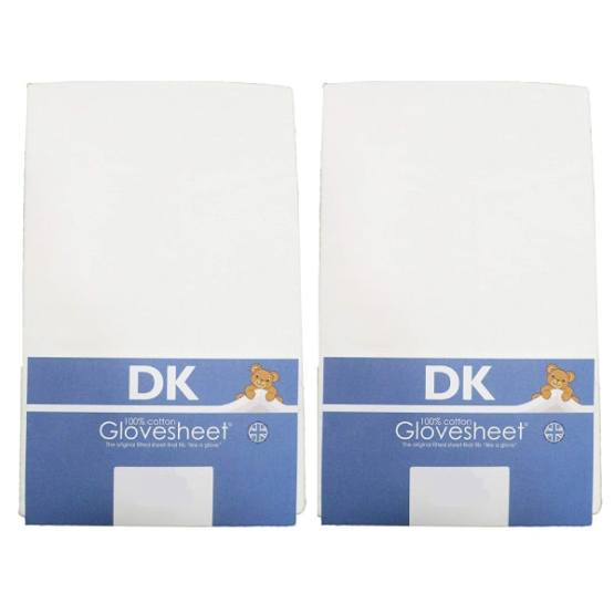 DK Fitted Sheet 100% Combed Jersey Cotton 84 x 36 White – 2 Pack