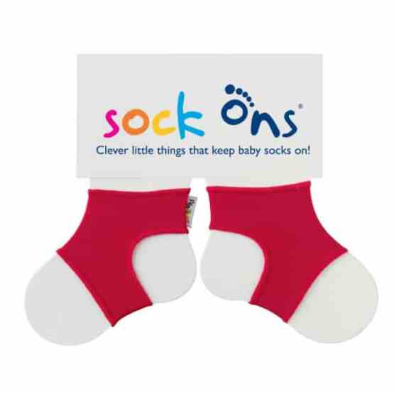 Sock Ons Red (6-12 Months)