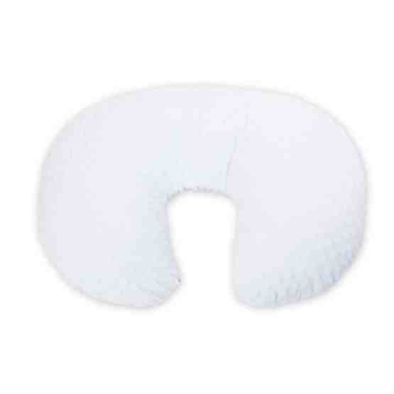 Katy® Supersoft Velour Dimple Pregnancy Cushion – White