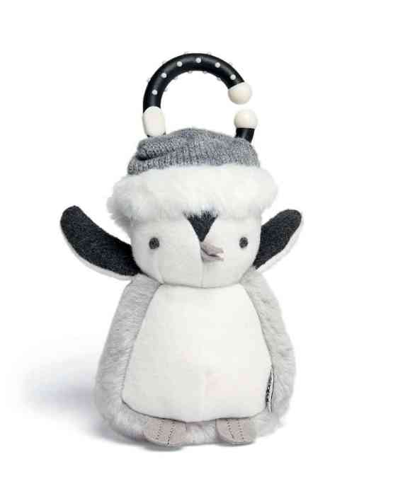 Mamas & Papas Linkie Christmas Penguin Chime Soft Toy