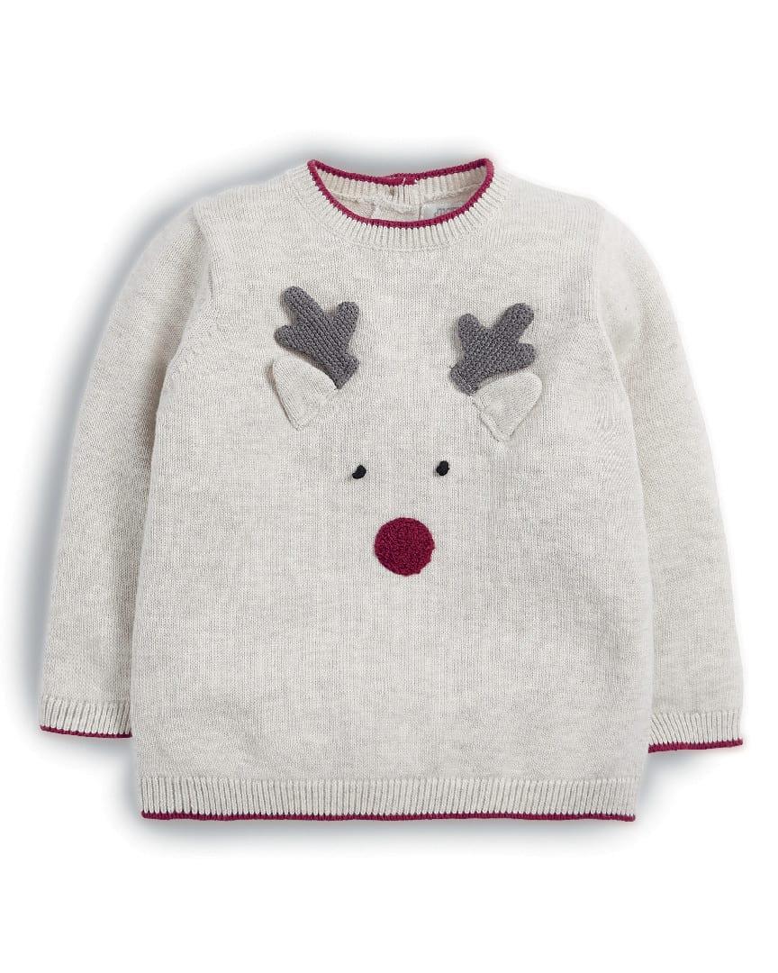Mamas & Papas Reindeer Christmas Jumper