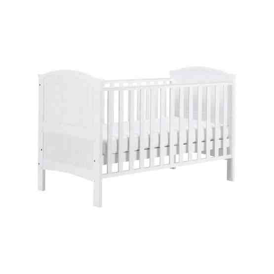 Eastcoast White Henley Cot Bed – Including Katy® Superior Deluxe Sprung Mattress