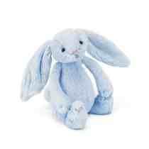 JC Bashful Blue Rattle Bunny
